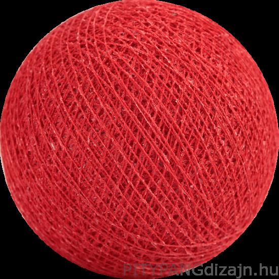 Cotton Ball Lights/ gömbök - red