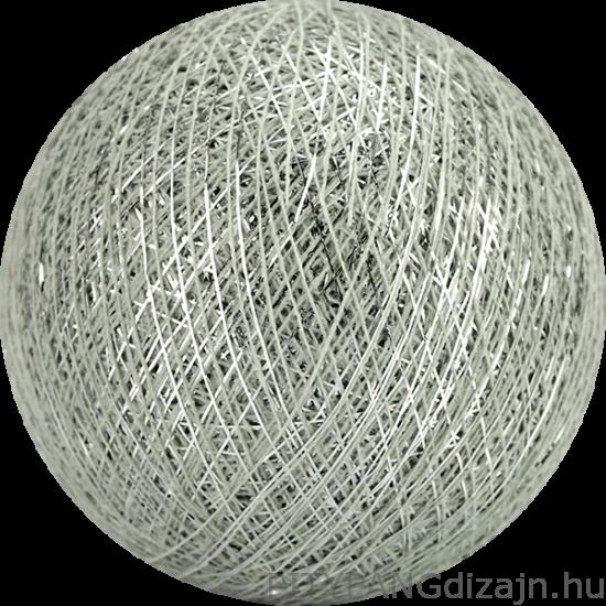 Cotton Ball Lights/ gömbök - silver stone