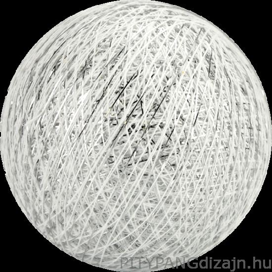 Cotton Ball Lights/ gömbök - silver white