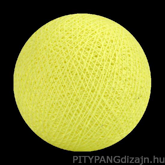 Cotton Ball Lights/ gömbök - soft yellow