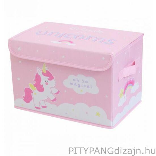 A Little Lovely Company - Tároló doboz unikornis