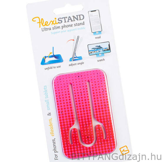 Flexistand mobiltelefon tartó - Pink Dots