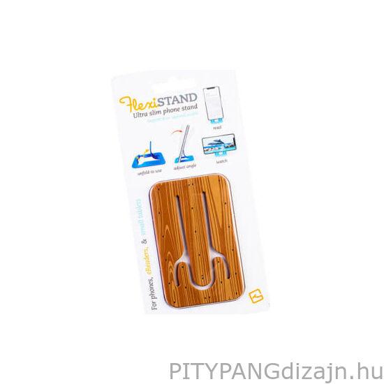 Flexistand mobiltelefon tartó - Wood